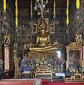 Wat Ratcha Orasaram Ubosot Interior Dthb859 by Gerry Gantt