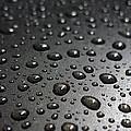 Water Drops On Black Metalica. Business Card. Invitation. Sympathy Note. by Ausra Huntington nee Paulauskaite