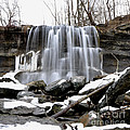 Water Falls At Rock Glen by Ronald Grogan