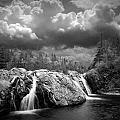 Water Falls At The Aquasabon River Mouth by Randall Nyhof