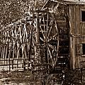 Water Mill In Action by Douglas Barnett