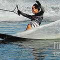 Water Skiing Magic Of Water 22 by Bob Christopher