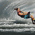 Water Skiing Magic Of Water 23 by Bob Christopher
