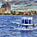 Water Taxi. St Petersburg. Russia by Juli Scalzi