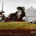 Water Tower Tornado Destruct by Stanley Morganstein