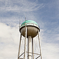 Water Tower With A Cellphone Transmitter by Paul Edmondson