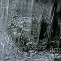 Water Wall And Whirling Bubbles by Susan Herber