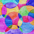 Watercolor Circles Abstract by Debbie Portwood