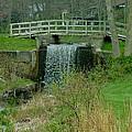 Waterfall And Bridge by Dennis Pintoski