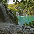 Waterfall At Plitvice National Park In by Axiom Photographic