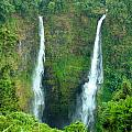 waterfall in Laos by Luciano Mortula