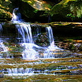 Waterfall Trio At Mcconnells Mill State Park by Angela Rath