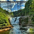 Waterfall Under The Bridge by Adam Jewell