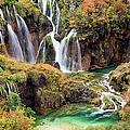 Waterfalls In Autumn Scenery by Artur Bogacki