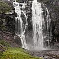 Waterfalls Over A Cliff Norway by Keith Levit