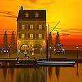 Waterfront Ocean Scene by John Junek