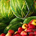 Watermellons And Apples by Elaine Manley