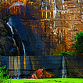 Watson Lake Waterfall by Julie Lueders