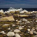 Waves Hitting Rocks, Anchor Brook by John Sylvester