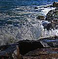 Waves Meet Jetty by Mikki Cucuzzo