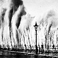Waves Smashing Seawall, 1938 by Science Source