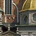 Wawel Domes In Krakow Poland by Greg Matchick