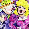 W.c. Fields And Mae West by Mel Thompson
