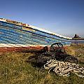 Weathered Fishing Boat On Shore, Holy by John Short