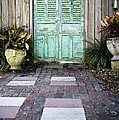 Weathered Green Door by Sam Bloomberg-rissman