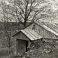 Weathered Hillside Barn by John Stephens