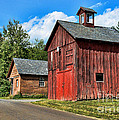 Weathered Red Barn by Paul Ward