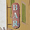 Weathered Rustic Metal Bar Sign by David Letts