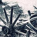 Weathered Wagon Wheel Broken Down by Tracie Kaska
