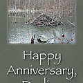 Wedding Anniversary Card - Beaver Lodge by Mother Nature