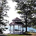 Wedding Gazebo By Lake Erie At Evangola State Park by Rose Santuci-Sofranko