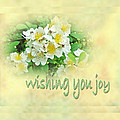 Wedding Wishing You Joy Greeting Card - Wildflower Multiflora Roses by Mother Nature