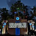 Welcime To Miami Beach by Frank Boellmann