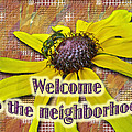 Welcome New Neighbor Card - Bee And Black-eyed Susan by Mother Nature