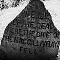 well of the dead and clan macgillivray memorial stone on Culloden moor battlefield site highlands sc by Joe Fox