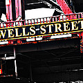 Wells Street Sign by Simone Hester