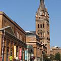 Wells Street Theater District And City Hall by Anita Burgermeister