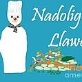 Welsh Snowman Chef by Barbara Moignard