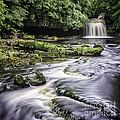 West Burton Falls Yorkshire Dales Uk by George Hodlin