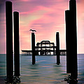 West Pier Silhouette by Chris Lord