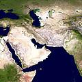 Western Asia, Satellite Image by Nasa