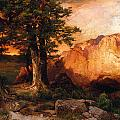 Western Sunset by Thomas Moran