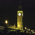 Westminster Bridge And Big Ben At Night, London by Hisham Ibrahim