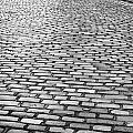 Wet Cobblestoned Huntly Street In The Union Street Area Of Aberdeen Scotland by Joe Fox