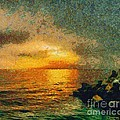 When The Sun Mets The Sea by Dragica  Micki Fortuna