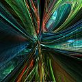 Where Tech Meets Digital Abstract Fx  by G Adam Orosco